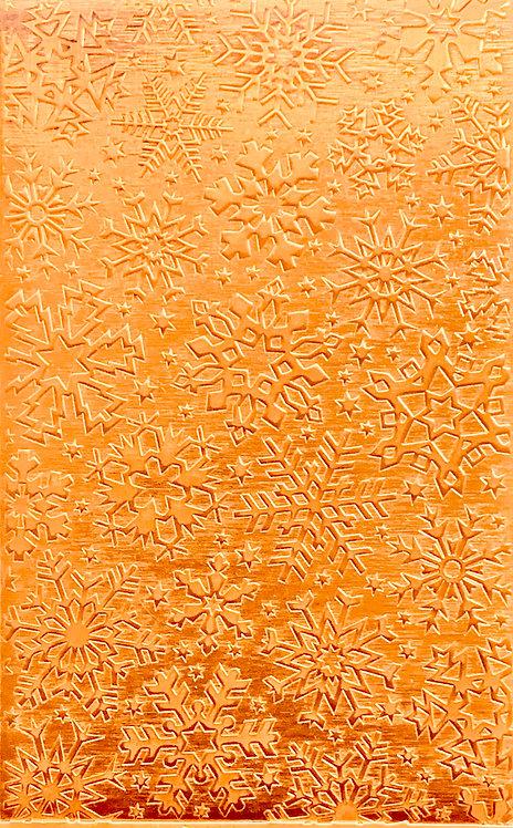 "Colorado Snowflakes Copper Pattern Pressing 2-1/2"" X 4"""