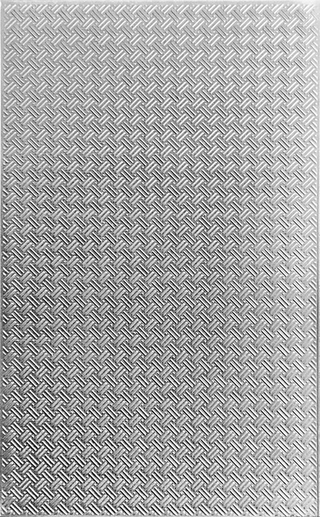 "Basketweave Background Sterling Silver Pattern Pressing 2-1"" X 4"""