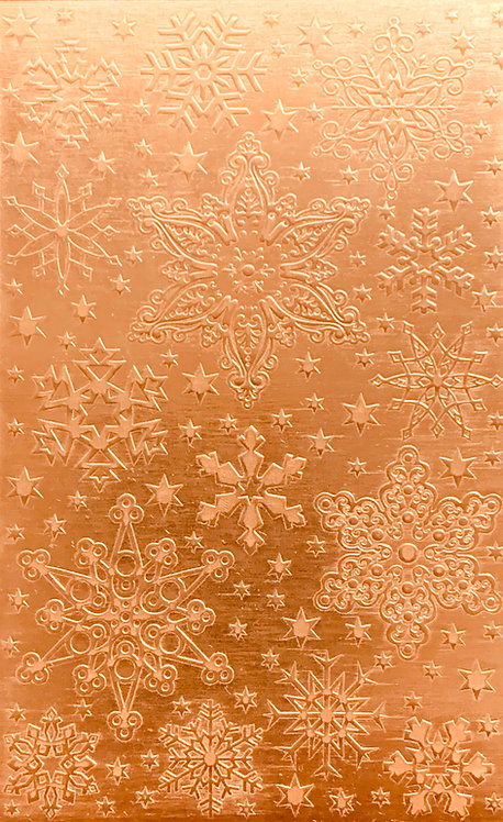 "Rocky Mountain Snowflakes Copper Pattern Pressing 2-1/2"" X 4"""