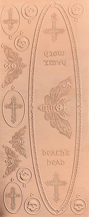 Celtic Death's Head Hawkmoth Earrings and Pendants Copper Pattern Pressing