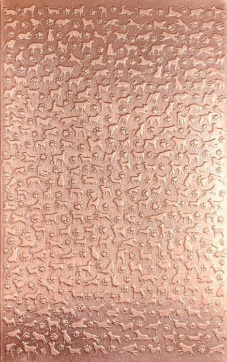 "Dogz Copper Pattern Pressing 2-1/2"" X 4"""