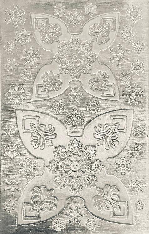 "Mandala Jingle Bell Sterling Silver Pattern Pressing 2-1/2"" X 4"""