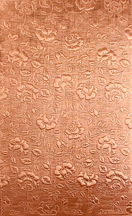 "Large Roses Background Copper Pattern Pressing 2-1/2"" X 4"""