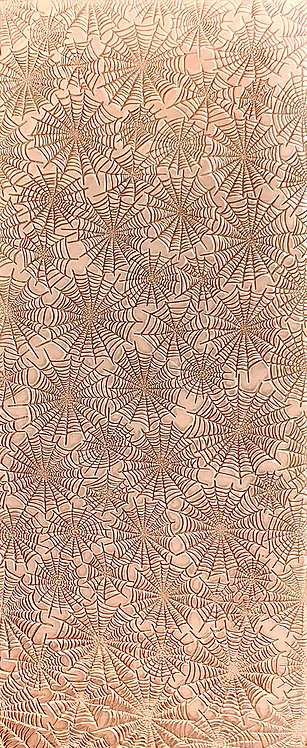 Spider Webs Reversed Background Copper Pattern Pressing