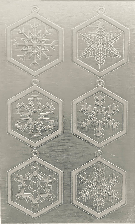 """Classic Snowflake Earrings Sterling Silver Pattern Pressing 2-1/2"""" X 4"""""""