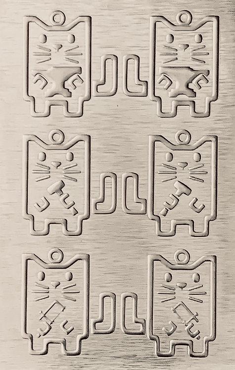 "Studio Cats Sterling Silver Pattern Pressing 2-1/2"" X 4"""