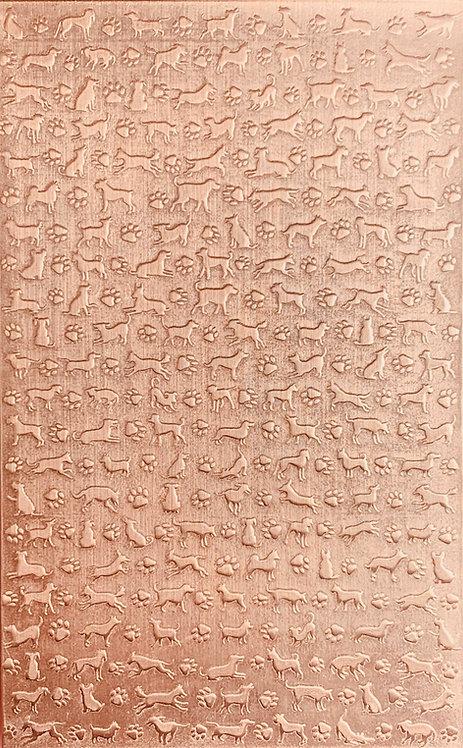 "Dogz 2 Copper Pattern Pressing 2-1/2"" X 4"""