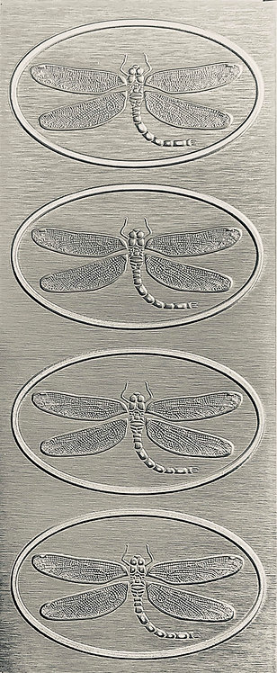 Dragonfly Hair Clip Small Sterling Silver Pattern Pressing