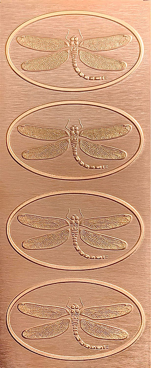 Dragonfly Hair Clip Small Copper Pattern Pressing