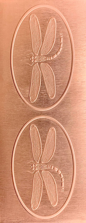 Dragonfly Hair Clip Copper Pattern Pressing