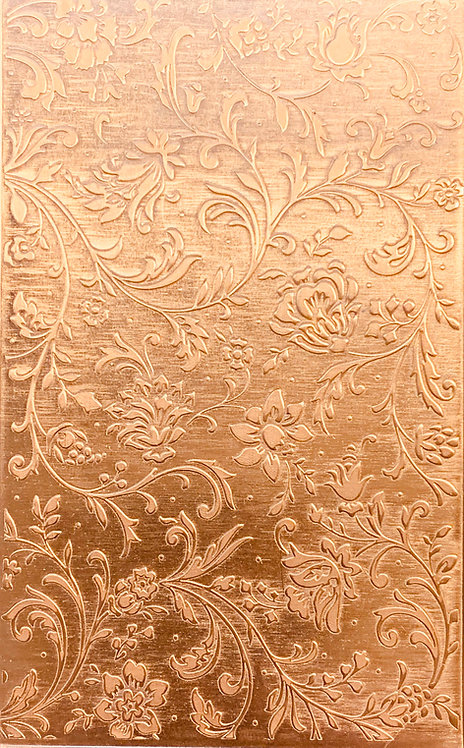 """Swirly Floral Copper Pattern Pressing 2-1/2"""" X 4"""""""