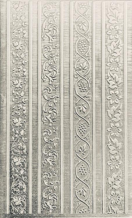 "Vertical Vine Rings 2 Sterling Silver Pattern Pressing 2-1/2"" X 4"""