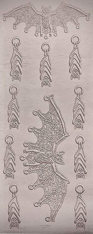 Bat Earrings and Pendants Sterling Silver Pattern Pressing
