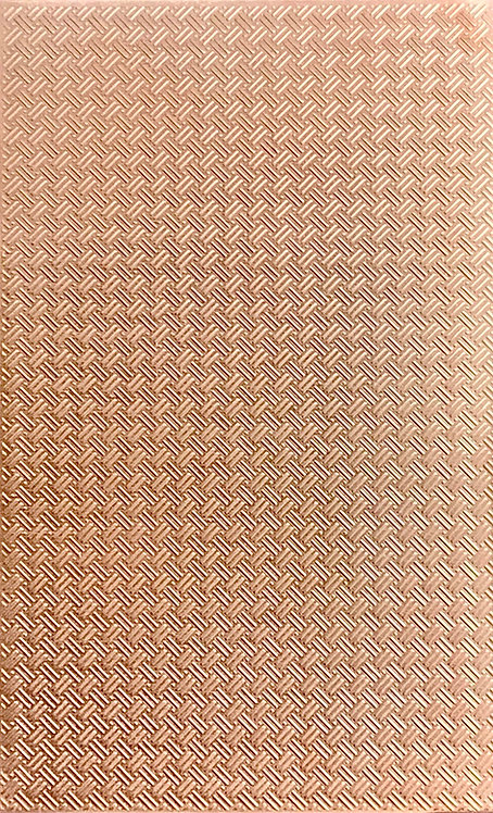 "Basketweave Background Copper Pattern Pressing 2-1/2"" X 4"""