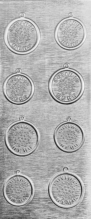Covid-19 Hero Pendants and Earrings Sterling Silver Pattern Pressing