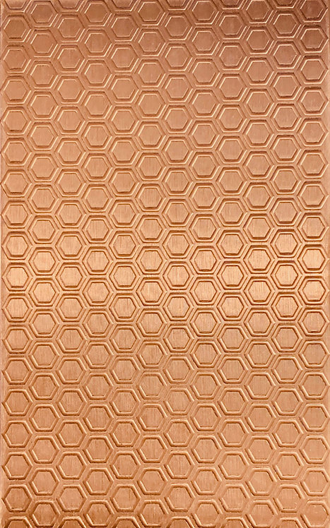 "Honeycomb Copper Pattern Pressing 2-1/2"" X 4"""