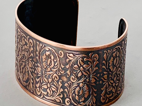 Cowgirl Rustic Wildflowers Cuff Bracelet, Pendant, and Earrings