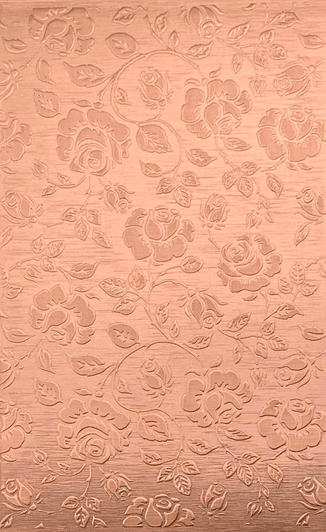 "Extra Large Roses Background Copper Pattern Pressing 2-1/2"" X 4"""