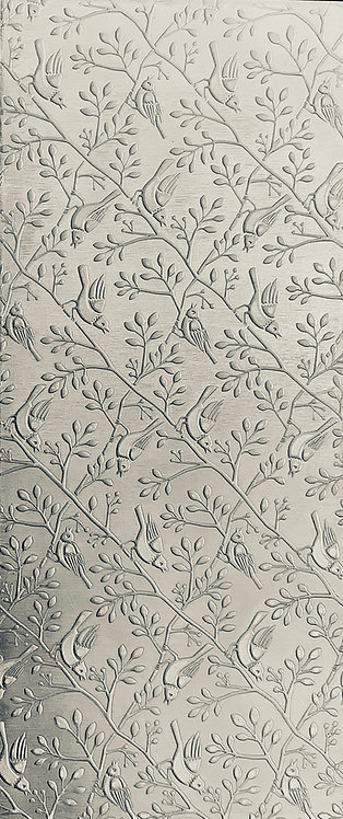 Birds on Branches Horizontal Background Sterling Silver Pattern Pressing