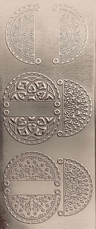 Boho Mandala Earrings and Pendants 1 Sterling Silver Pattern Pressing
