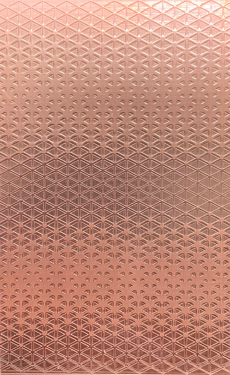 """Tessellated Triangle Background Copper Pattern Pressing 2-1/2"""" X 4"""""""