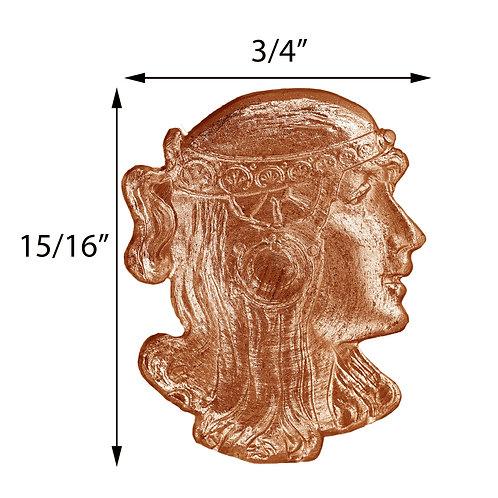 Face #140 Art Nouveau Lady Impression Die Pressing