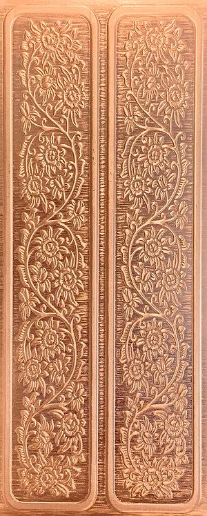 Cowgirl Rustic Blooming Vine Cuff Bracelets Copper Pattern Pressing