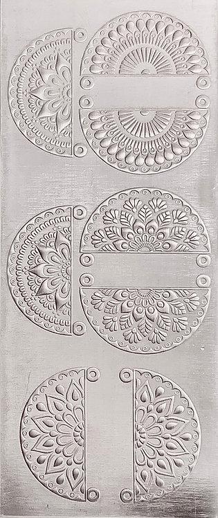 Boho Mandala Earrings and Pendants 2 Sterling Silver Pattern Pressing