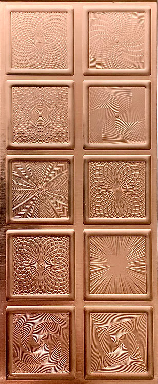 Square Guilloche Enameling Backplates Copper Pattern Pressing