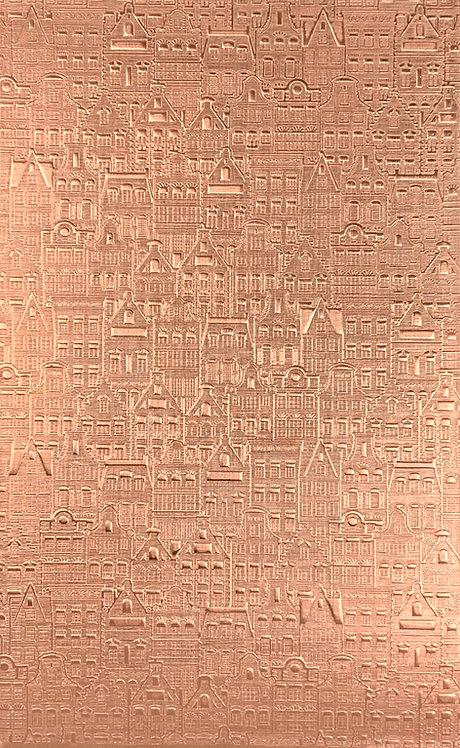 """Cityscape 1 Copper Pattern Pressing 2-1/2"""" X 4"""""""
