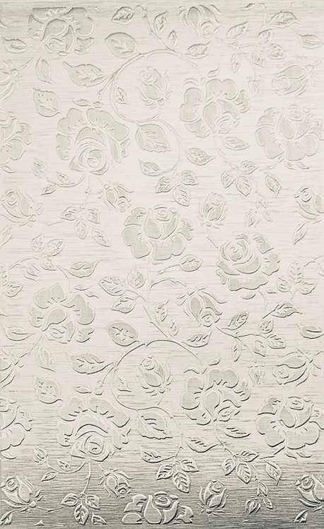 """Extra Large Roses Background Sterling Silver Pattern Pressing 2-1/2"""" X 4"""""""