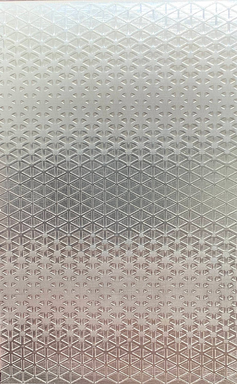 """Tessellated Triangle Background Sterling Silver Pattern Pressing 2-1"""" X 4"""""""