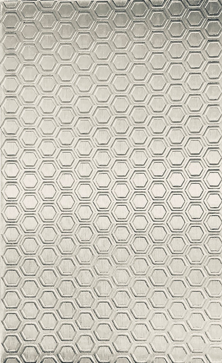 """Honeycomb Sterling Silver Pattern Pressing 2-1/2"""" X 4"""""""