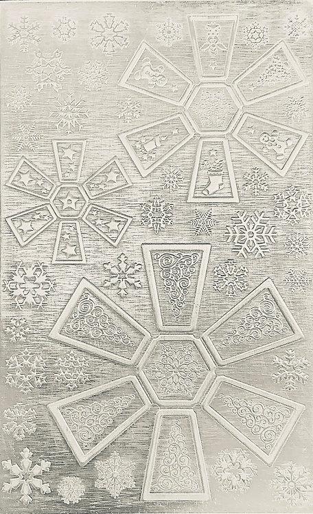 "Hexagon Jingle Bells Sterling Silver Pattern Pressing 2-1/2"" X 4"""