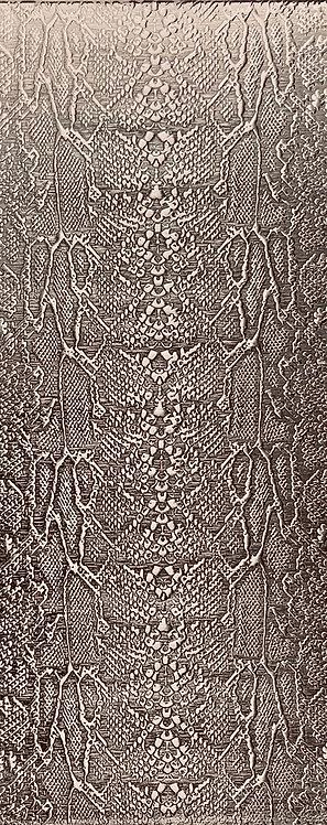 Snakeskin Sterling Silver Pattern Pressing