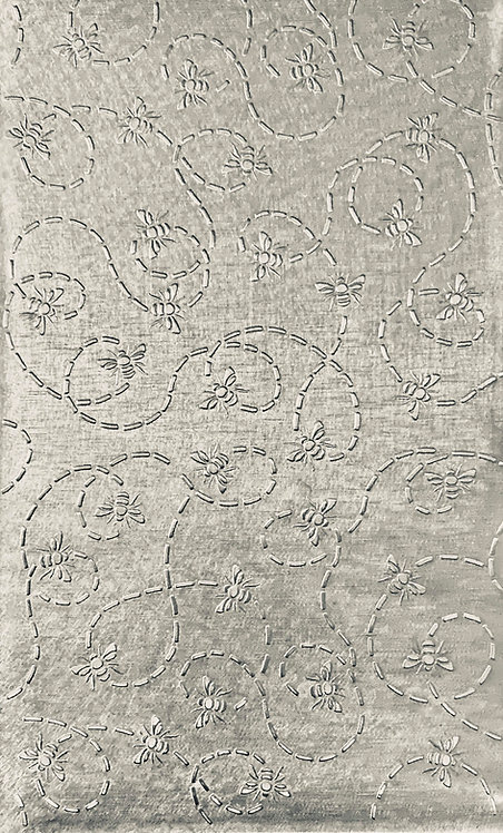 """Busy Bees Sterling Silver Pattern Pressing 2-1/2"""" X 4"""