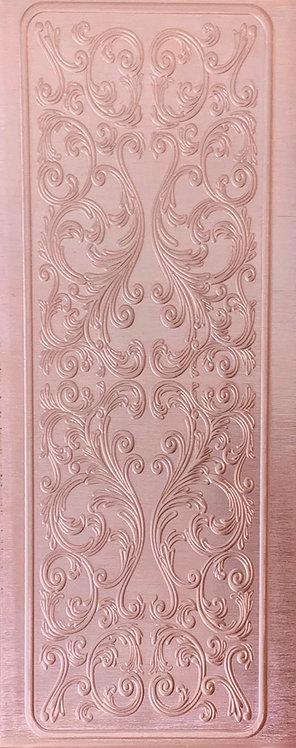 Elegant Scrollwork Cuff with Border Copper Pattern Pressing