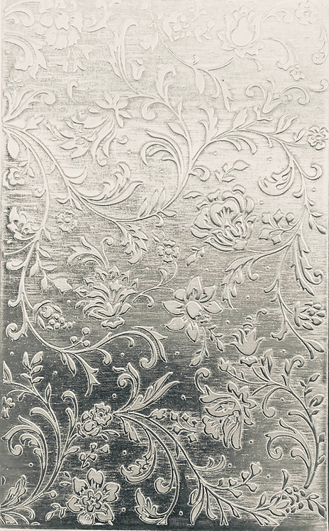 """Swirly Floral Sterling Silver Pattern Pressing 2-1/2"""" X 4"""""""