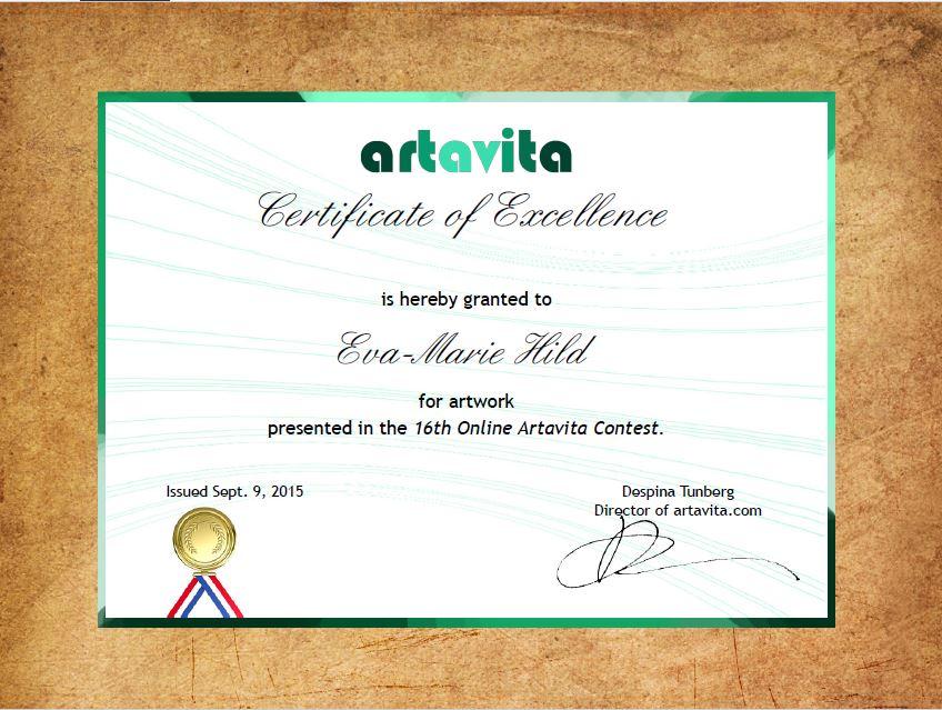 Artavita Certificate of Excellenece