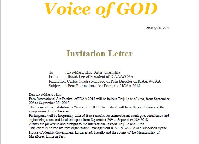 Invitation Voice of God