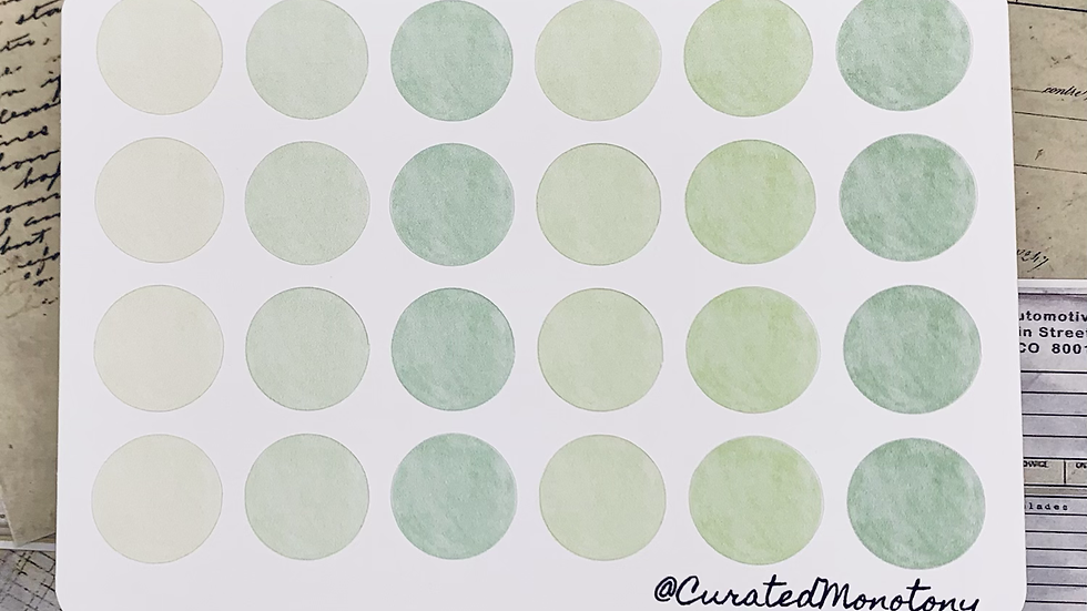 Green Circle Stickers