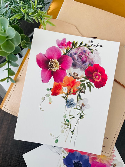 She Blooms Postcard