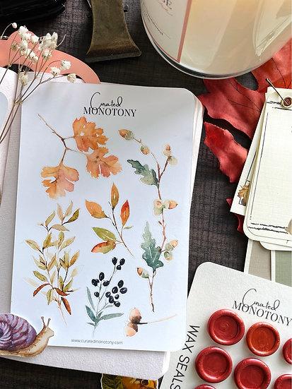 Fall Blooms Sticker Sheet