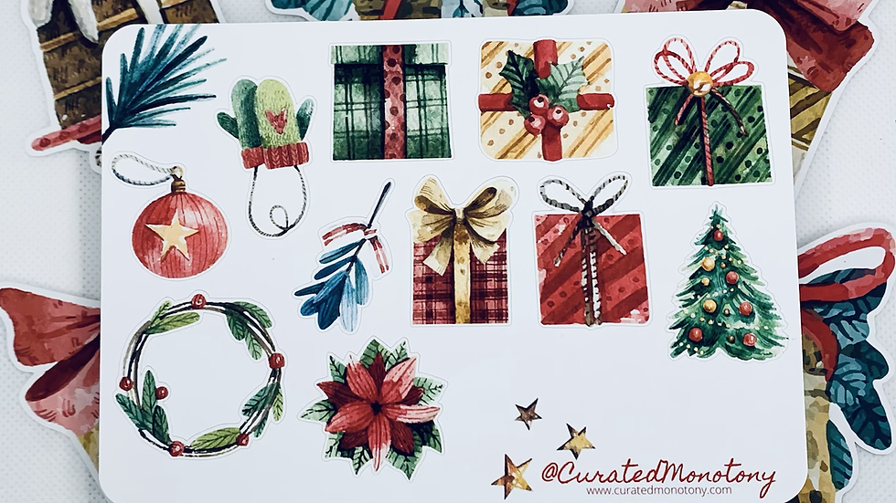 Christmas Present Stickers