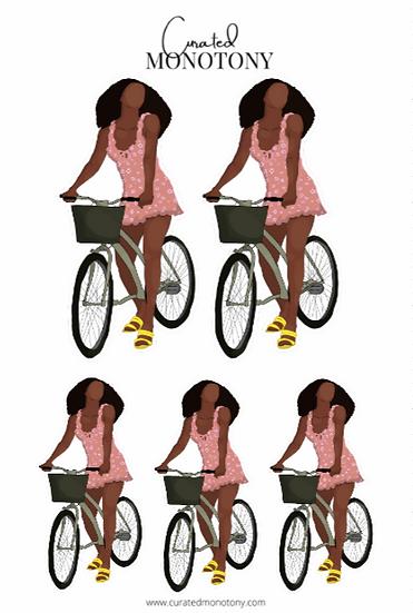 Cyclin' Sis Sticker Sheet