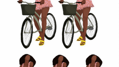 Cyclin' Queen Sticker Sheet
