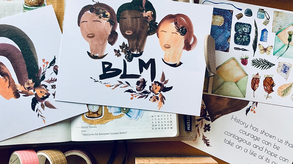 Shades of Brown BLM Postcard