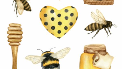 Bees Sticker Sheet