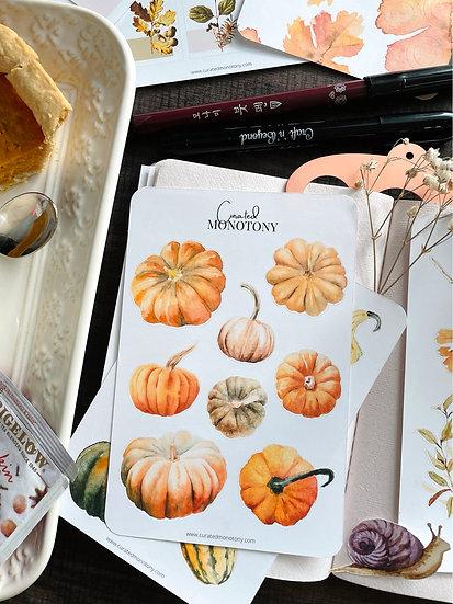 Pumpkin Pie Sticker Sheet