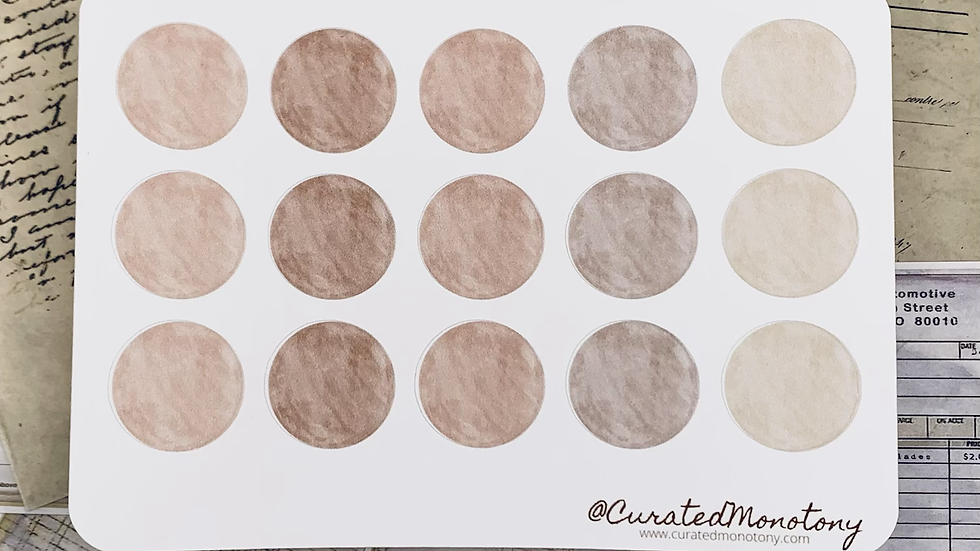 Brown Circle Stickers